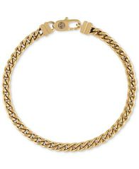 Image of Esquire Men's Chain Bracelet in Gold-Tone Ion-Plated Stainless Steel
