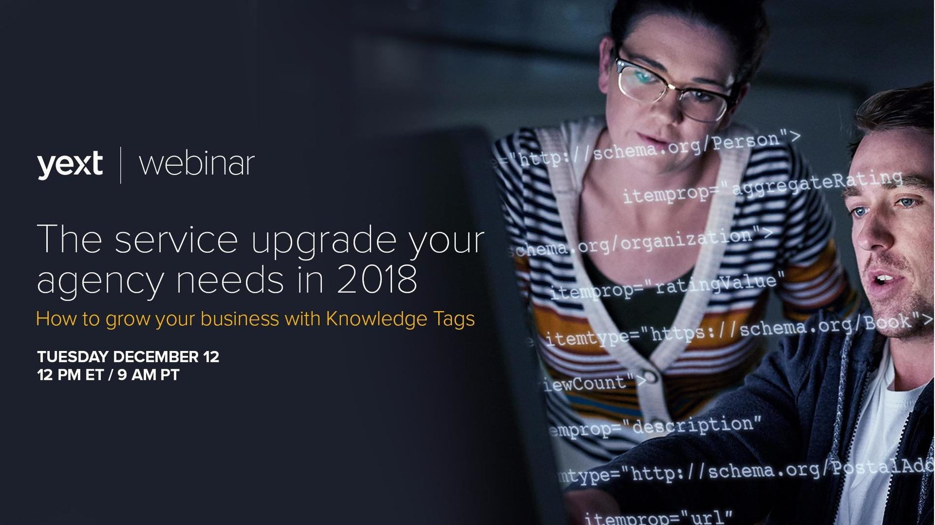 The service upgrade your agency needs in 2018: How to grow your business with Knowledge Tags Event Photo