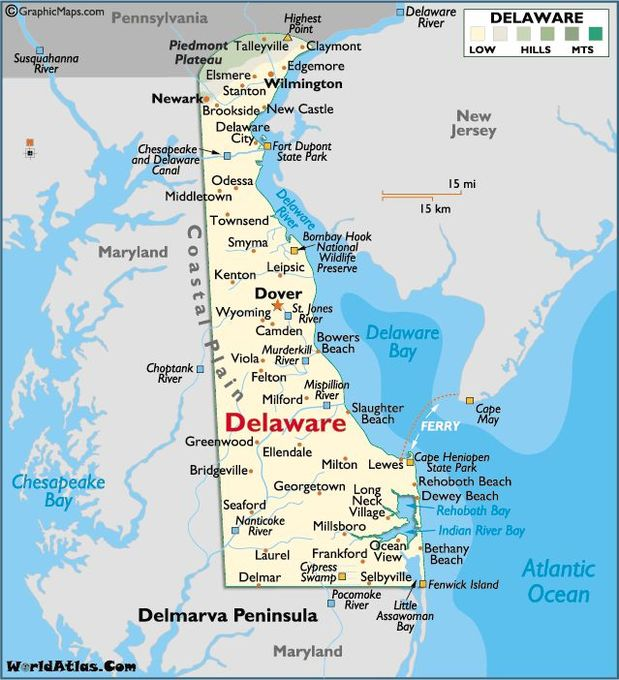 Paul Sarnak - Map of Delaware Towns
