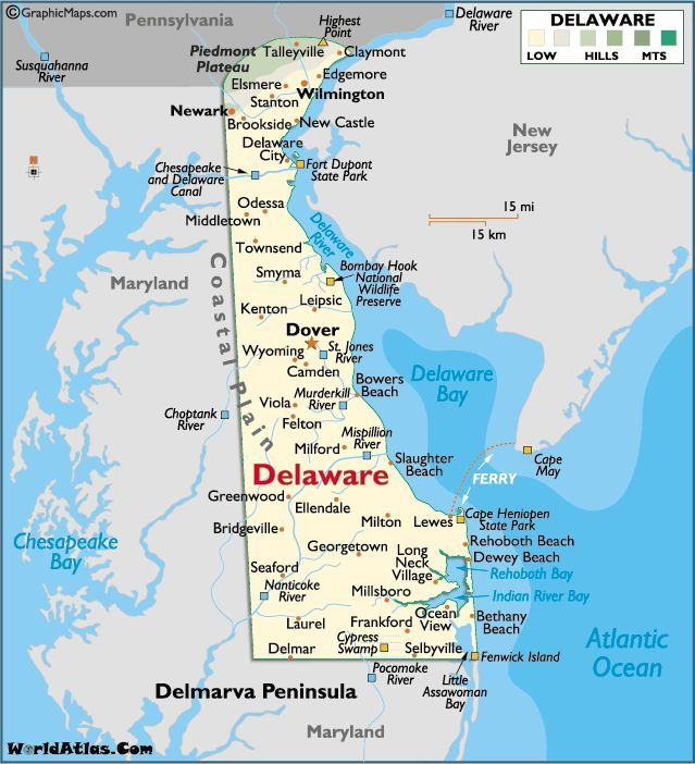 Delaware Coast Map