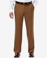 Image of Haggar eCLo Stria Classic Fit Dress Pants