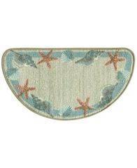 "Image of Bacova Star Shell Border 18"" x 31.5"" Berber Slice Accent Rug"
