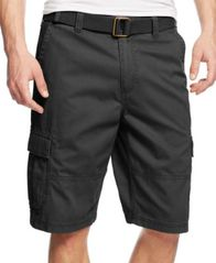 Image of American Rag Men's Belted Relaxed Cargo Shorts, Created for Macy's