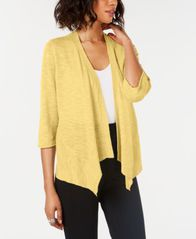 Image of Alfani Linen Open-Front Cardigan, Created for Macy's