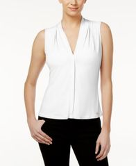 Image of Calvin Klein Pleated Blouse, Regular & Petite