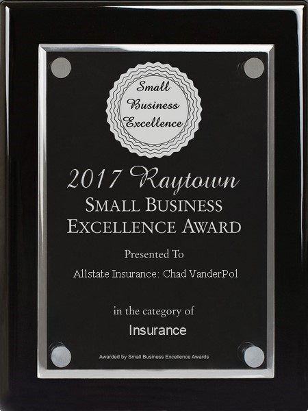Chad VanderPol - Receiver of the 2017 Small Business Excellence Award