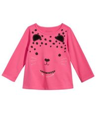 Image of First Impressions Cat-Print T-Shirt, Baby Girls, Created for Macy's