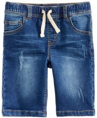 Image of Epic Threads Denim Knit Shorts, Little Boys, Created for Macy's