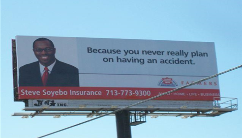 One of my many billboards in Houston!