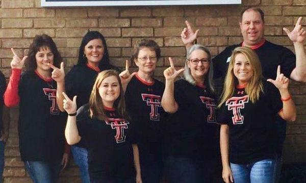 Our team loves those RED RAIDERS!
