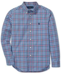 Image of Polo Ralph Lauren Big Boys Plaid Cotton Poplin Shirt