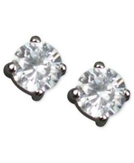 Image of Givenchy Earrings, Round Cubic Zirconia Stud (3/4 ct. t.w.)