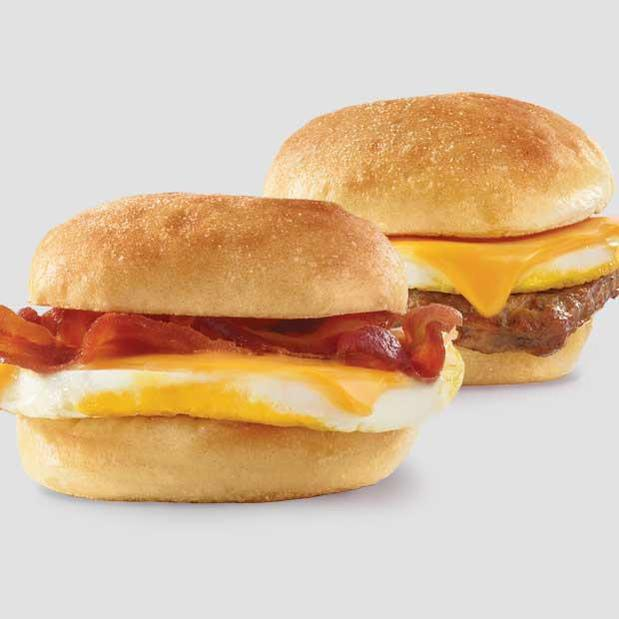 Classic Bacon, Egg & Cheese Sandwich and the Classic Sausage, Egg, & Cheese Sandwich