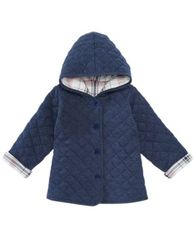 Image of First Impressions Baby Girls Quilted Plaid Reversible Jacket, Created for Macy's