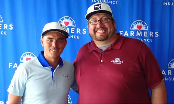 Ricky Fowler and Farmers Insurance Agent Roanld Hyre