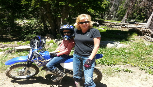 Riding our dirt bikes