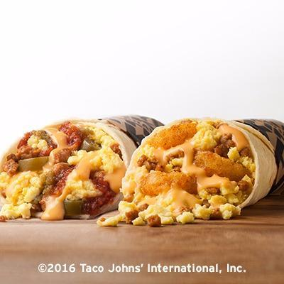 Taco John's Breakfast Menu