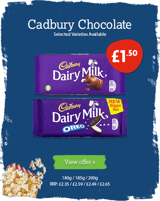 Cadbury chocolate offer available until 3rd March