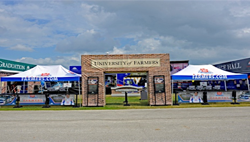 University of Farmers display tents