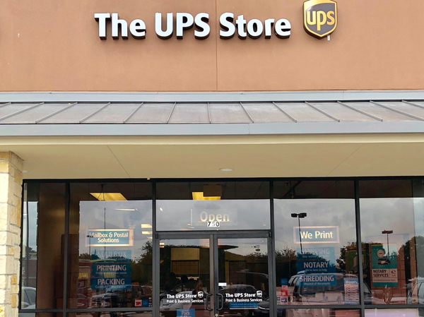 front of the ups store at 5250 Hwy 78