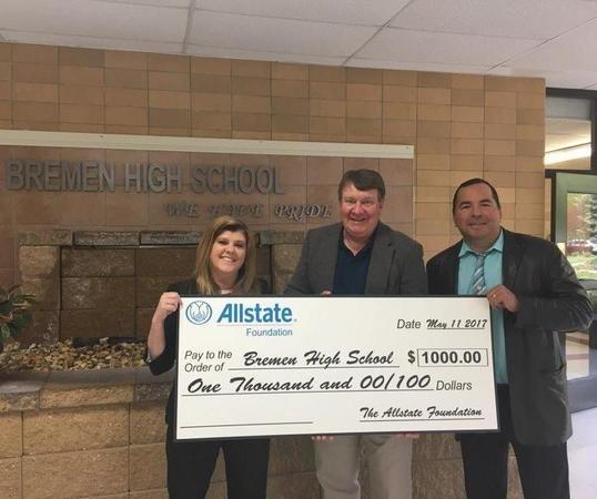 Susan Semanate - Allstate Foundation Helping Hands Grant to Bremen High School