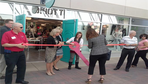At Maurices' ribbon cutting with the Dakota County Chamber of Commerce.