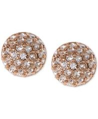 Image of Givenchy Earrings, Rose Gold-Tone Crystal Button Earrings