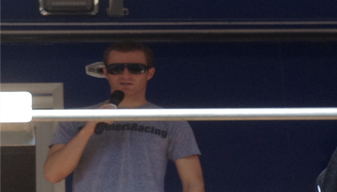 Kasey Kahne speaking with us at Dover's AAA 400 race - Sept 2012