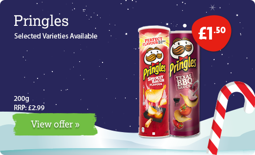 Pringles offer available until 10th December