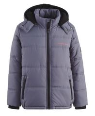 Image of Calvin Klein Eclipse Hooded Puffer Jacket, Little Boys (4-7)