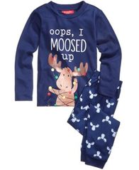 Image of Family Pajamas Moosed Up Pajama Set, Big Boys' or Big Girls' (4-16), Created for Macy's