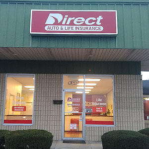 Front of Direct Auto store at 614 South Cumberland Street, Lebanon