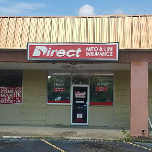 Front of Direct Auto store at 1999 Highway 80 West, Jackson