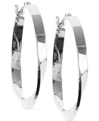 Image of Nine West Twisted Hoop Earrings
