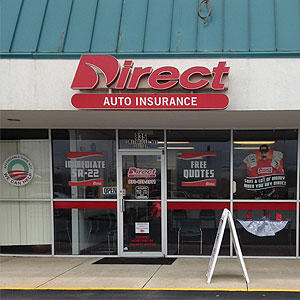 Front of Direct Auto store at 835 Smithville Highway, McMinnville