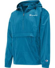 Image of Champion Men's Packable Half-Zip Hooded Water-Resistant Jacket