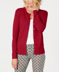 Image of Charter Club Long-Sleeve Button-Front Cardigan, Created for Macy's