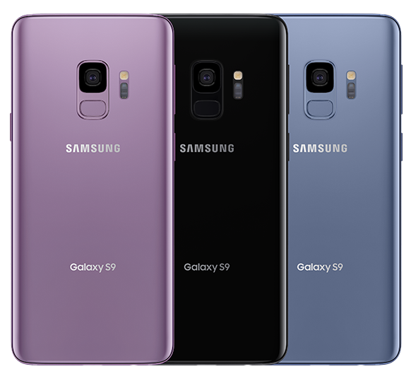 Three Samsung Galaxy S9 | S9+