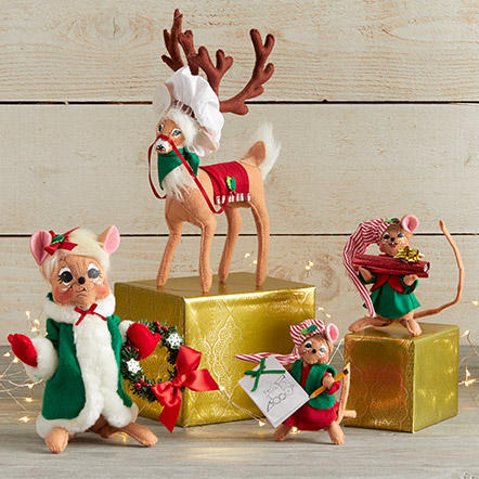 Christmas - Assorted Christmas figurines and decor