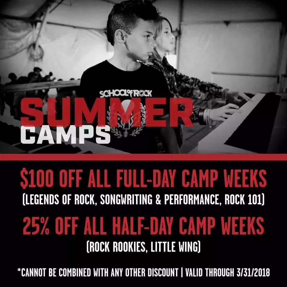 Image of ROCK OUT WITH US THIS SUMMER: HUGE DISCOUNTS ON SUMMER CAMPS THROUGH 3/31!