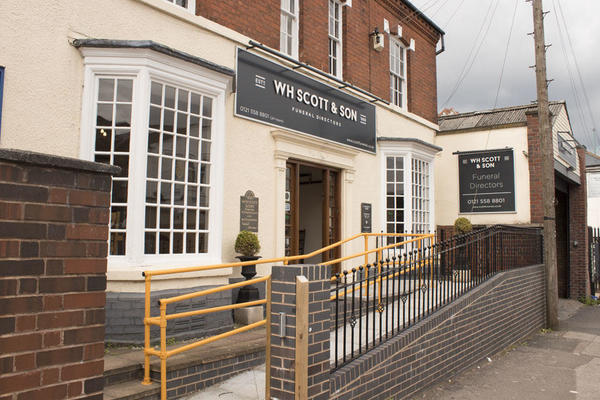 W H Scott & Son Funeral Directors in Edgbaston, Birmingham