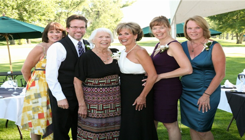 My amazing mom, sisters Gayle, Shaunna and Michele and brother Dan