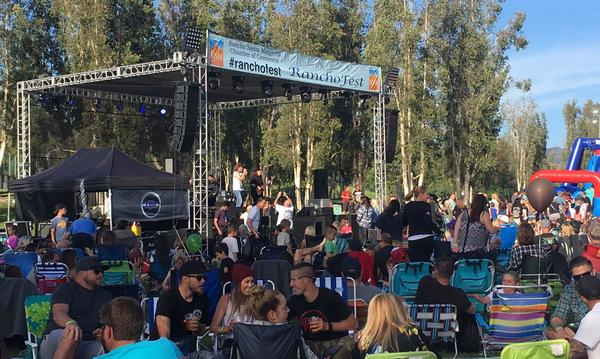 Rancho Fest concert with a crowd
