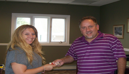 Heather Hermanson, winner of the $100 gift card from my tent at the 4-H Fair.
