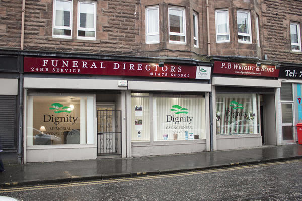 P B Wright & Sons Funeral Directors in Port Glasgow