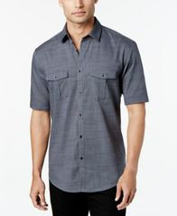 Image of Alfani Short Sleeve Warren Textured Shirt, Created for Macy's