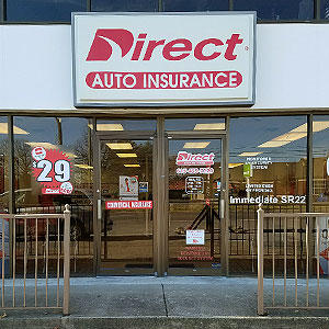 Front of Direct Auto store at 304 South Lowry Street, Smyrna
