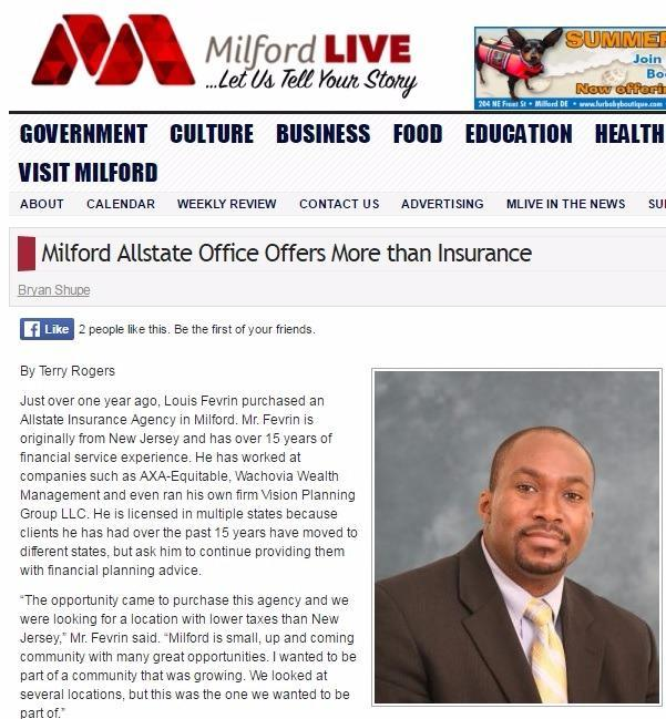 Louis Fevrin - Milford Allstate Office Offers More than Insurance