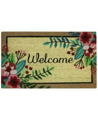 "Image of Bacova Floral Welcome 18"" x 30"" Doormat"