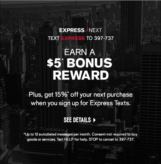 Express Bonus Reward - Get $5 Off When You Sign Up Today!